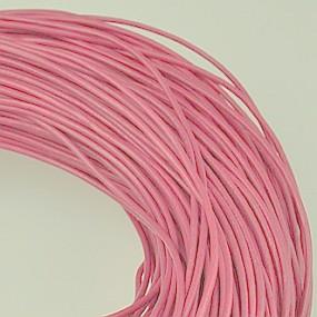 Kůže kulatá 1mm světle růžová 1m