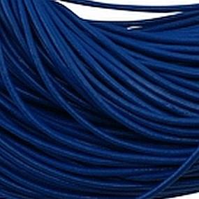 Kůže kulatá 2mm tmavě modrá 1m