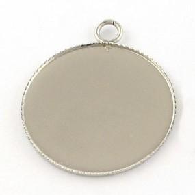 Lůžko kruh 25mm chirurgická ocel (1ks)