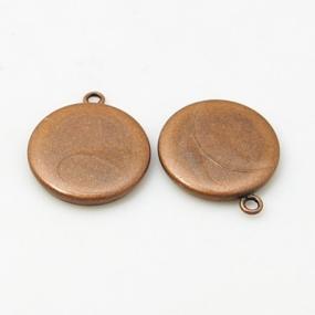 Lůžko kruh 15mm staroměď vysoká kvalita (1ks)