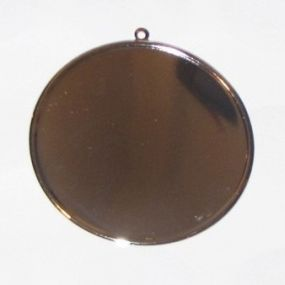 Lůžko kruh stříbrný 60mm 1ks