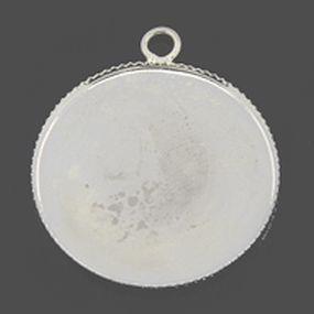 Lůžko kruh 25mm 1ks stříbrná b.