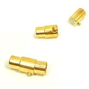 Magnetické zapínání vlepovací s pojistkou zlatá b. 5mm