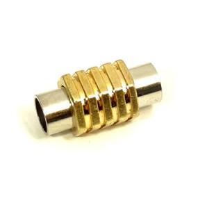 Magnetické zapínání vlepovací se zlatými proužky 6mm