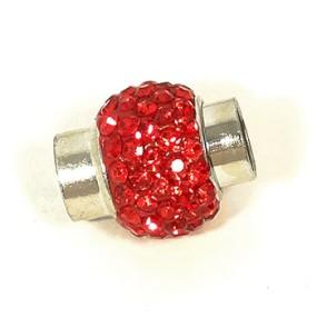 Magnetické zapínání vlepovací 7mm červené