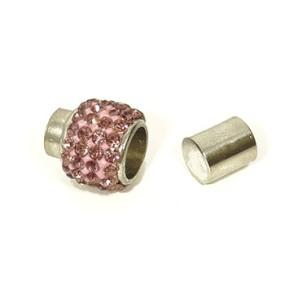 Magnetické zapínání vlepovací 7mm fialové