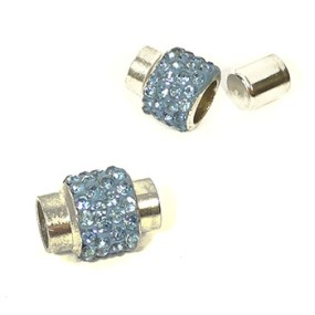 Magnetické zapínání vlepovací 7mm modré