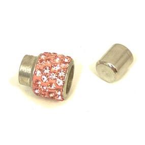 Magnetické zapínání vlepovací 7mm světle růžové