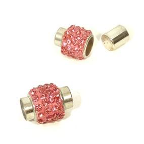 Magnetické zapínání vlepovací 7mm tmavě růžové
