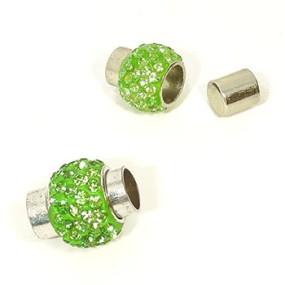 Magnetické zapínání vlepovací 7mm zelené