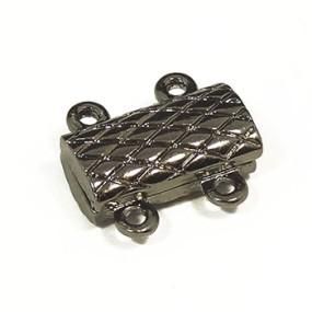 Magnetické zapínání dvouřadé ploché gunmetal (1ks)