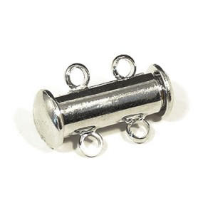 Magnetické zapínání dvouřadé platina (1ks)