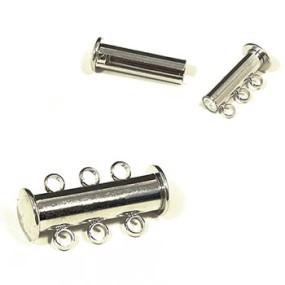 Magnetické zapínání trojřadé platina (1ks)