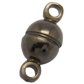 Magnetické zapínání gunmetal půlkulaté 5mm (1ks)