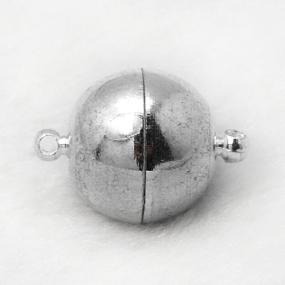 Magnetické zapínání platina půlkulaté 10mm (1ks)