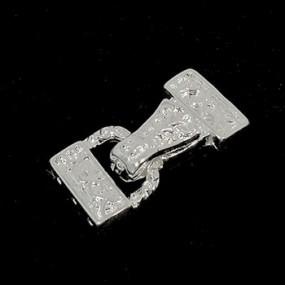 Magnetické zapínání třířadé zdobené stříbrná b. (1ks)