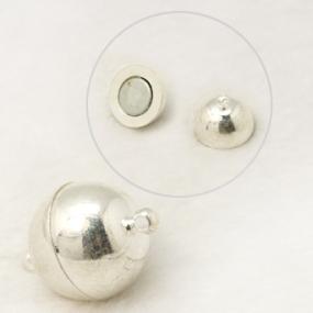 Magnetické zapínání stříbrná b. půlkulaté 10mm (1ks)