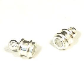 Magnetické zapínání stříbrná b. váleček (1ks)