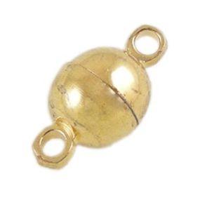 Magnetické zapínání zlatá b. půlkulaté 5mm (1ks)