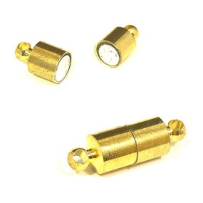 Magnetické zapínání zlatá b. váleček (1ks)