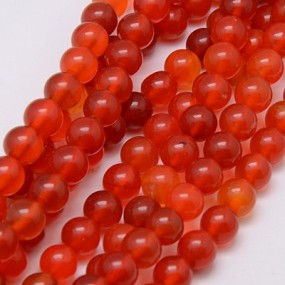 Achát oranžový 8mm (6ks)