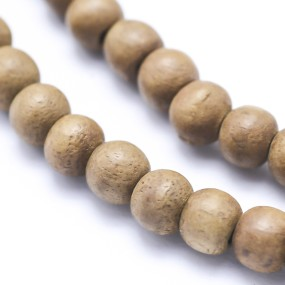 Korálky ze santalového dřeva 8mm 6ks