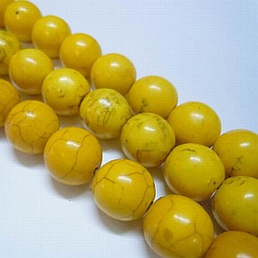 Tyrkys žlutý 8mm (6ks)