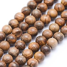 Korálky ze santalového dřeva 4mm 15ks