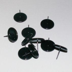 Lůžko náušnicové černé 12mm (10ks)