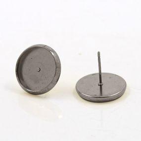 Lůžko náušnicové chirurgická ocel 14mm (12mm vnitřní průměr) NCH14 (2ks)