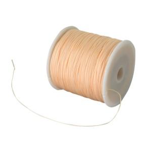Nylonová šňůra pastelově oranžová 0,8mm (5m)