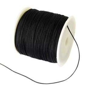 Nylonová šňůra černá 0,8mm (5m)