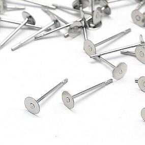 Náušnicový základ 4mm chirurgická ocel (10ks)