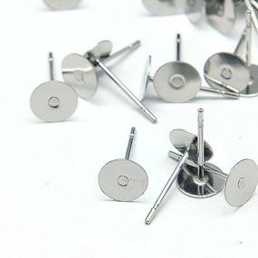 Náušnicový základ 6mm chirurgická ocel (10ks)