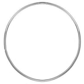 Kovový kruh / obruč na lapač snů bílý 10cm