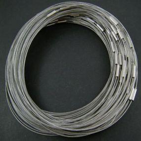 Obruč na krk se šroubovacím zapínáním (OBZ) stříbrná b. 1 ks