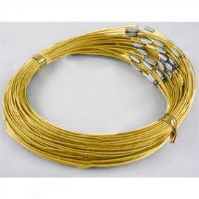 Obruč na krk se šroubovacím zapínáním (OBZ) zlatá b. 1 ks