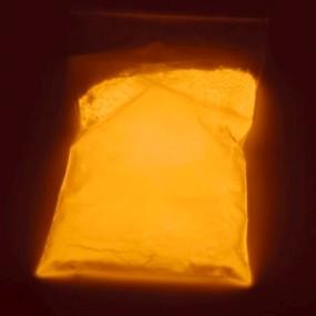 Svítící prášek do pryskyřice / fotoluminiscenční pigment oranžový