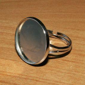 Prstýnek s kruhovým lůžkem 20mm 1ks
