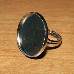 Prstýnek s kruhovým lůžkem 25mm MAXIBALENÍ 10ks