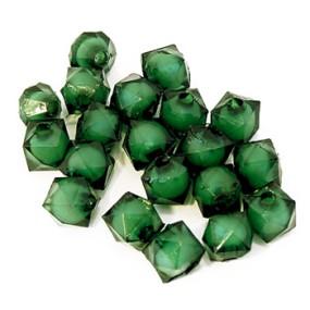 Korálky plastové zelené 8x8mm 20ks