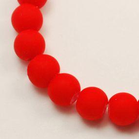 Korálky pogumované 6mm 12ks červené