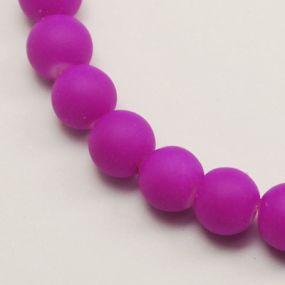 Korálky pogumované 6mm 12ks fialové