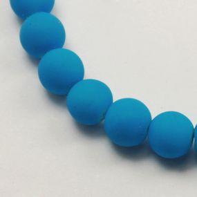 Korálky pogumované 6mm 12ks světle modré