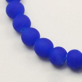 Korálky pogumované 6mm 12ks tmavě modré