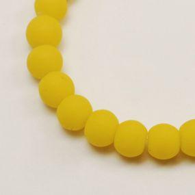 Korálky pogumované 6mm 12ks žluté