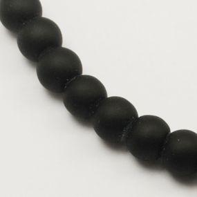 Korálky pogumované 8mm 6ks černé