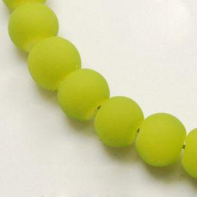 Korálky pogumované 8mm 6ks tmavě zelené
