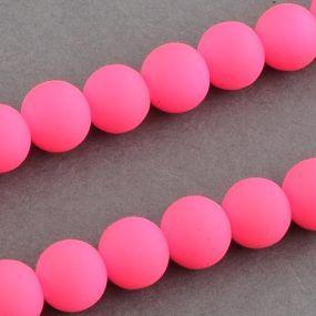 Korálky pogumované 12mm 3ks zářivě růžové