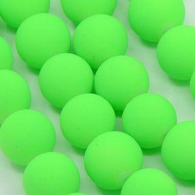 Korálky pogumované 12mm 3ks zářivě zelené